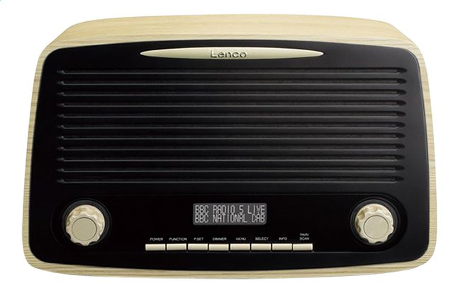 Image pour Lenco radio DAB+ Rétro DAR-012 Wood Brown à partir de ColliShop