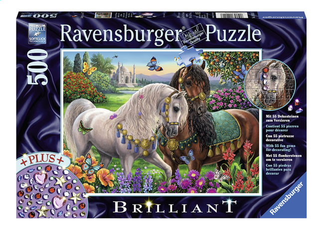 Image pour Ravensburger puzzle Starline Chevaux scintillants à partir de ColliShop