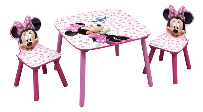 Image pour Table avec 2 chaises Minnie Mouse à partir de ColliShop