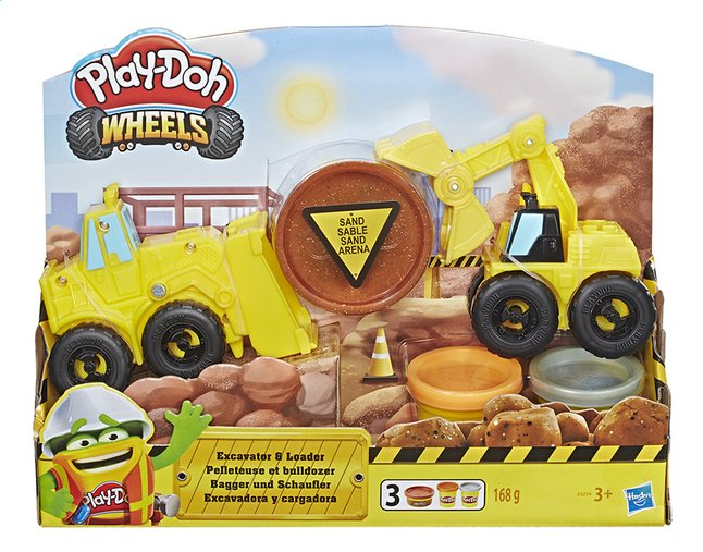 Play-Doh Wheels Graafmachine en bulldozer