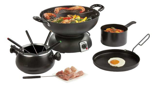 Afbeelding van Domo Wok en fondue DO8707W 4-in-1 party set from ColliShop