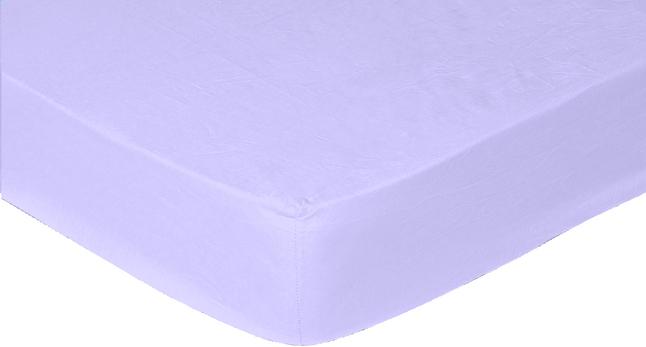 Sleepnight Drap-housse hauteur des coins 25 cm lilas en coton 180 x 200 cm