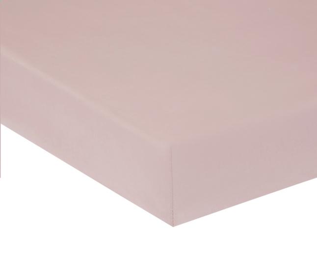 Afbeelding van Home lineN hoeslaken Bicolore roze flanel 180 x 200 cm from ColliShop