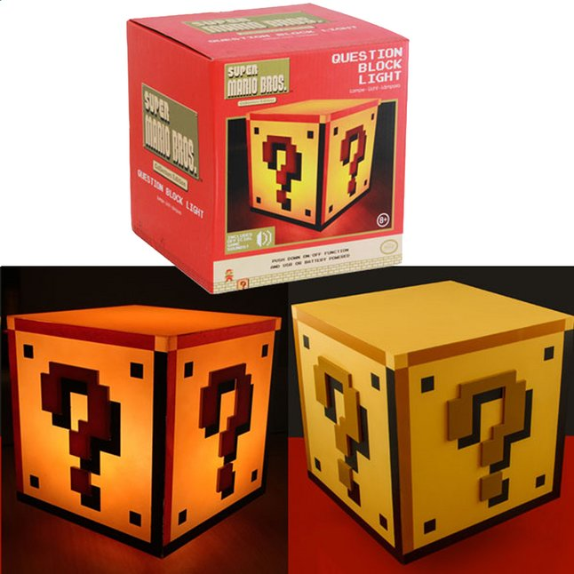 Afbeelding van Lamp Super Mario Bros goud from ColliShop