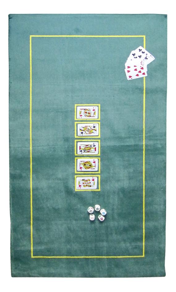 Afbeelding van Pokermat 150 x 75 cm groen from ColliShop