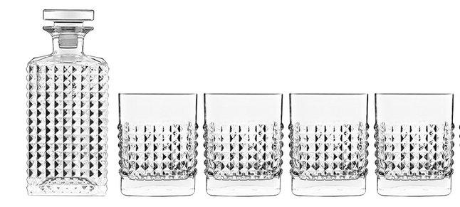 Luigi Bormioli Set van karaf en whiskyglazen Mixology Elixir