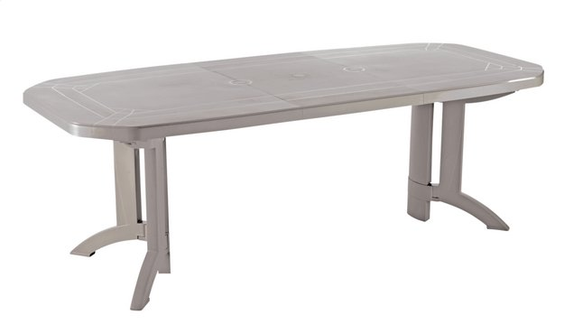 Grosfillex table de jardin à rallonge Vega beige L 160 x Lg 100 cm