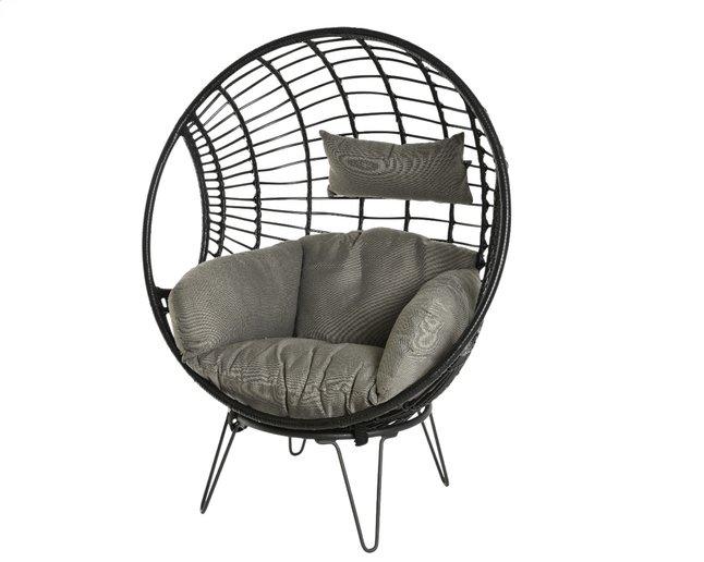 Image pour Fauteuil de jardin œuf noir/gris à partir de ColliShop