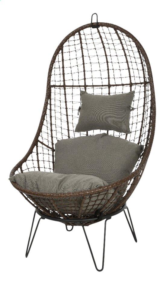Image pour Chaise coquille Malta brun/gris à partir de ColliShop