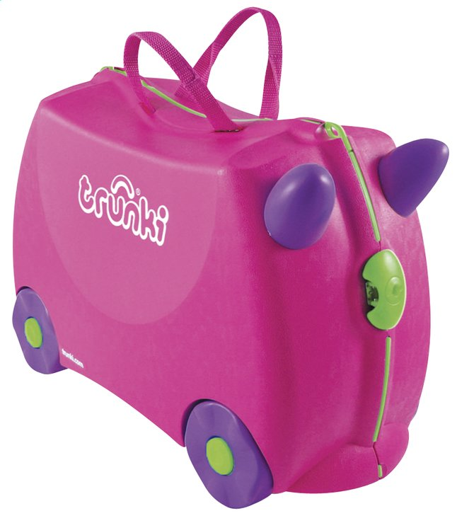 Afbeelding van Trunki harde trolley TrunkiRide-on Trixie roze from ColliShop