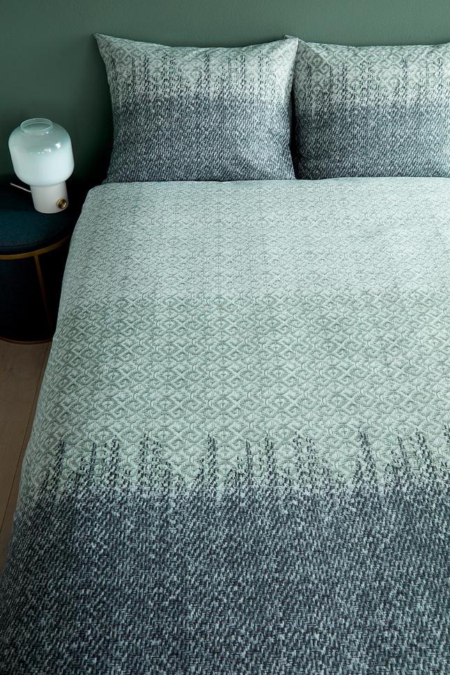 Image pour Beddinghouse Housse de couette Davis green coton 140 x 220 cm à partir de ColliShop