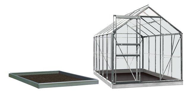 ACD serre Intro Grow Lily 6,2 m² avec verre horticole + embase aluminuim