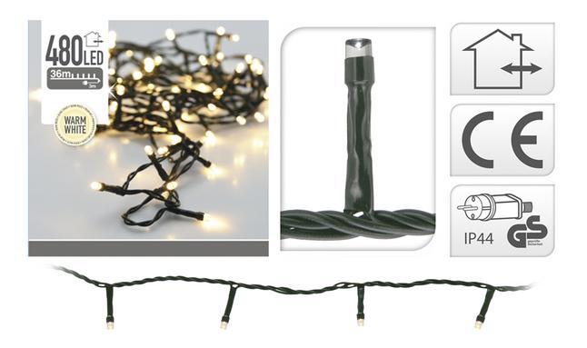 Guirlande lumineuse LED 480 lampes blanc chaud