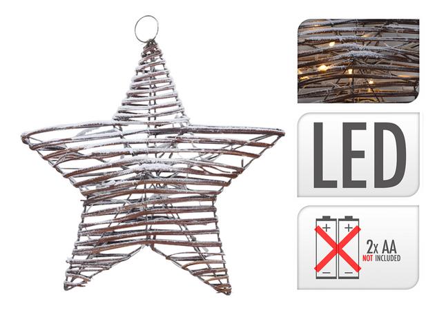 Image pour Décoration lumineuse LED étoile en rotin à partir de ColliShop