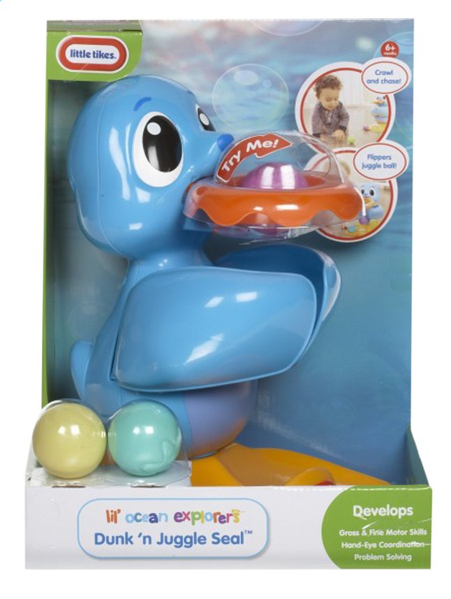 Afbeelding van Little Tikes Lil' Ocean Explorers Dunk 'n Juggle Seal from ColliShop