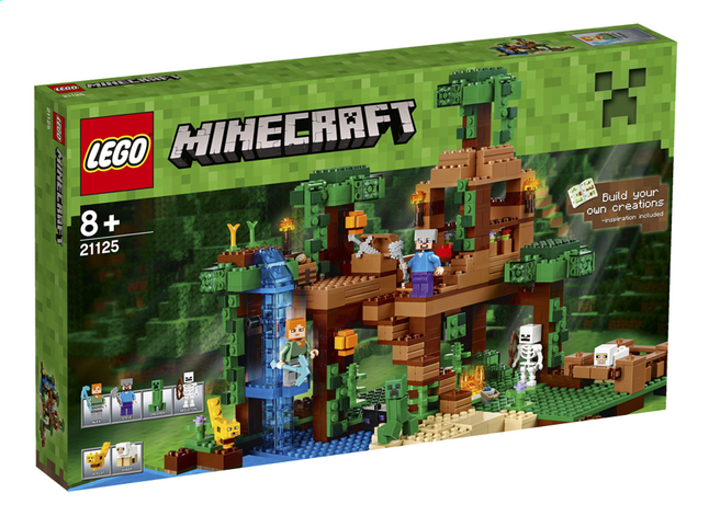 Image pour LEGO Minecraft 21125 La cabane dans l'arbre de la jungle à partir de ColliShop