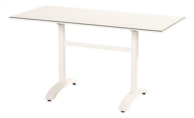 Image pour Hartman table de jardin Sophie Bistro blanc L 138 x Lg 68 cm à partir de ColliShop