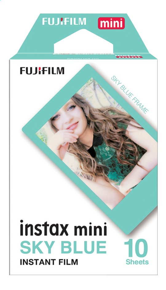 Image pour Fujifilm pack de 10 photos pour instax mini Sky Blue à partir de ColliShop