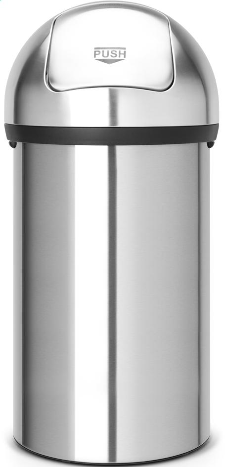 Afbeelding van Brabantia afvalemmer Push Bin 60 l mat staal from ColliShop