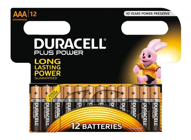Image pour Duracell 12 piles AAA Plus Power à partir de ColliShop