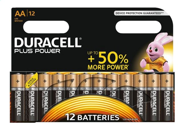 Image pour Duracell 12 piles AA Plus Power à partir de ColliShop