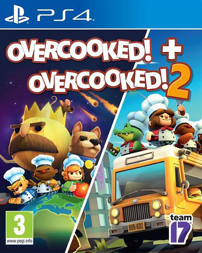 PS4 Overcooked double pack - Overcooked 1 & 2 FR/ANG