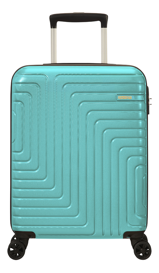 Afbeelding van American Tourister trolley Mighty Maze turkoois 55 cm from ColliShop