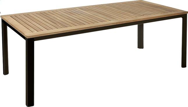 Image pour Table à rallonge York teck/noir 160 x 90 cm à partir de ColliShop
