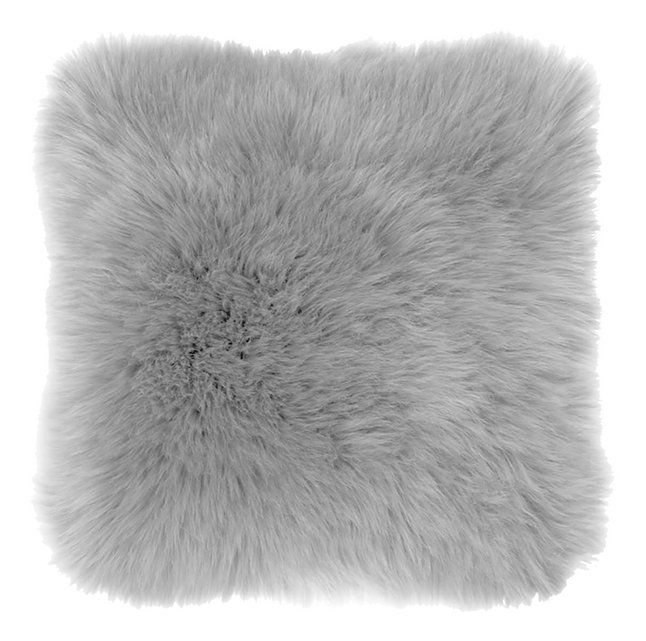 Tiseco Home Studio Coussin décoratif Sheepskin gris