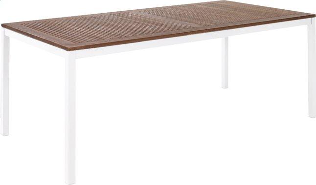 Image pour Table de jardin Gramat teck/blanc 200 x 100 cm à partir de ColliShop