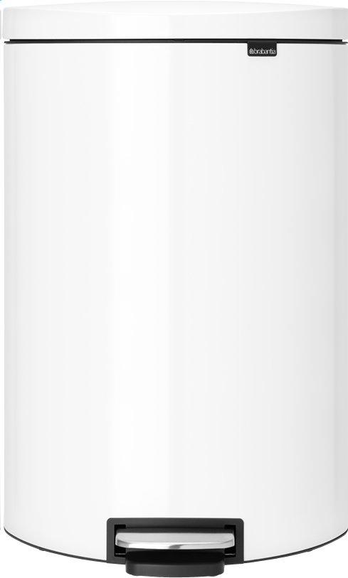 Afbeelding van Brabantia Afvalemmer FlatBack+ wit 40 l from ColliShop