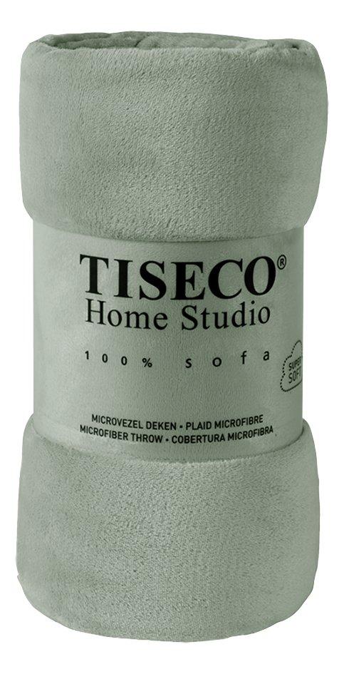 Afbeelding van Tiseco Home Studio Plaid sage uni green microflanel from ColliShop