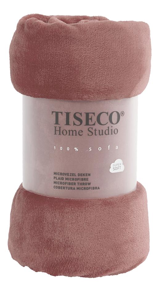 Image pour Tiseco Home Studio Plaid Russet Uni rose microflanelle à partir de ColliShop