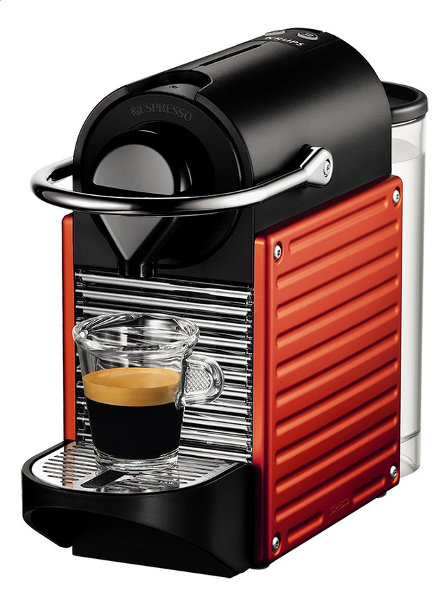 Image pour Krups machine à espresso Nespresso Pixie XN3006 electric red à partir de ColliShop