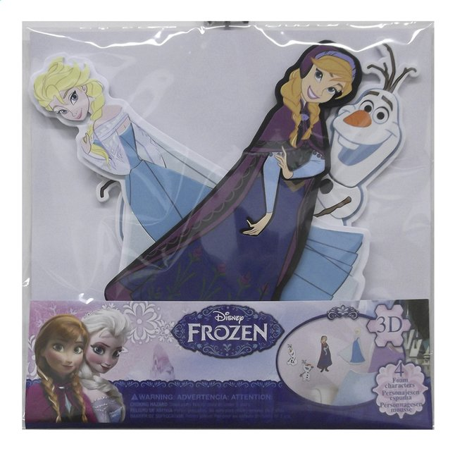 Afbeelding van Muurstickers Disney Frozen Elsa, Anna en Olaf from ColliShop