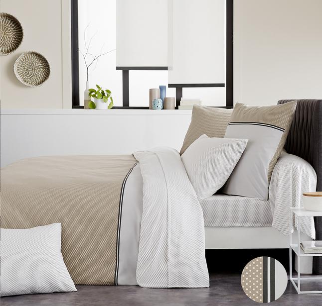 origin housse de couette louise bambou coton 140 x 200 cm collishop. Black Bedroom Furniture Sets. Home Design Ideas