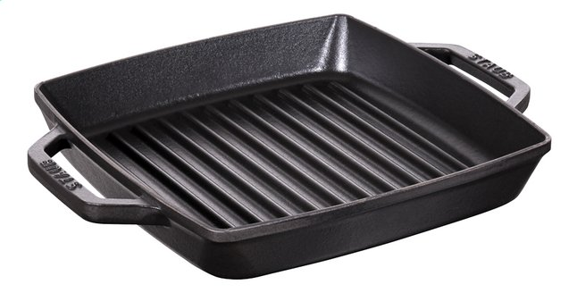 Image pour Staub Poêle-gril noir 23 x 23 cm à partir de ColliShop
