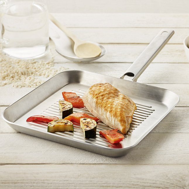Afbeelding van Resto by Demeyere Grillpan L 24 x B 24 cm from ColliShop