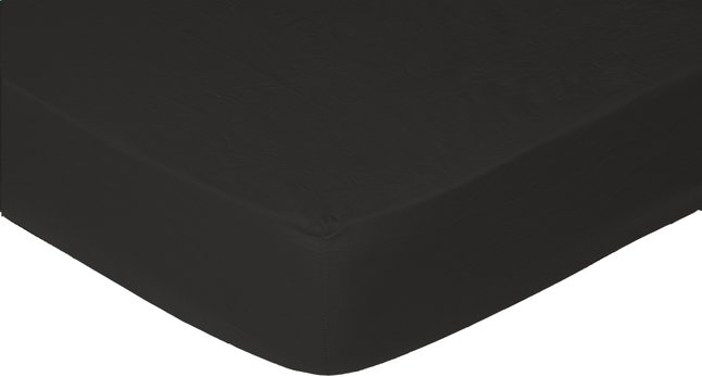 Image pour Sleepnight drap-housse noir en jersey de coton 180 x 200 cm à partir de ColliShop