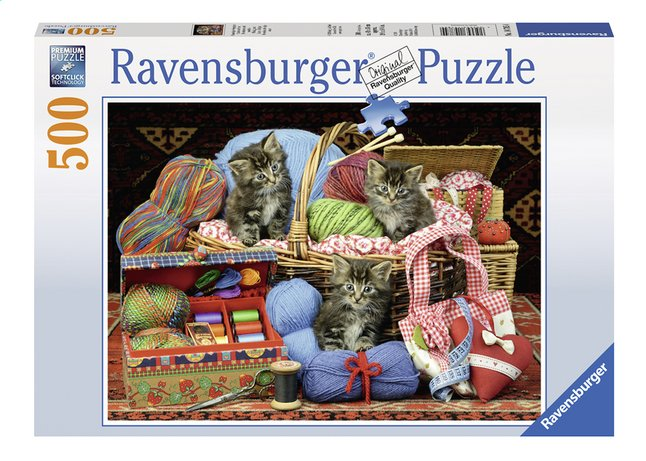 Image pour Ravensburger puzzle Chatons et tricot à partir de ColliShop