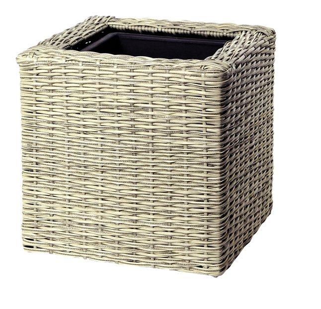 Image pour MCollections jardinière Umero Cubi beige 40 cm à partir de ColliShop