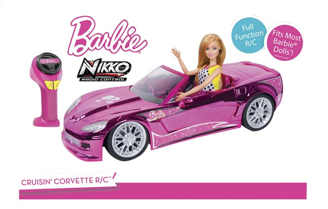 nikko voiture rc barbie crusin 39 corvette collishop. Black Bedroom Furniture Sets. Home Design Ideas