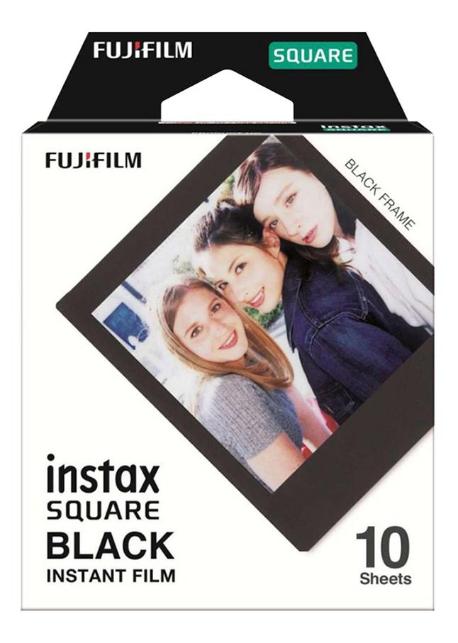Image pour Fujifilm 10 photos Black Frame pour Instax SQUARE à partir de ColliShop
