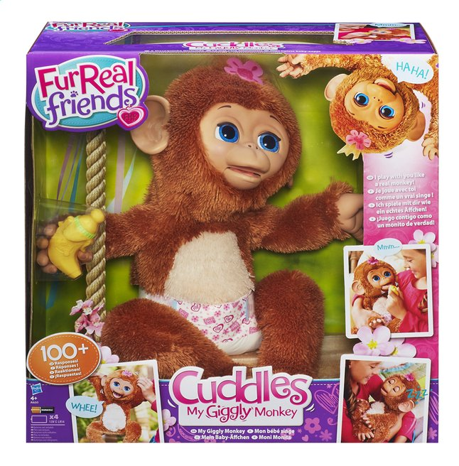 Afbeelding van FurReal Friends interactieve knuffel Cuddles My Giggly Monkey from ColliShop