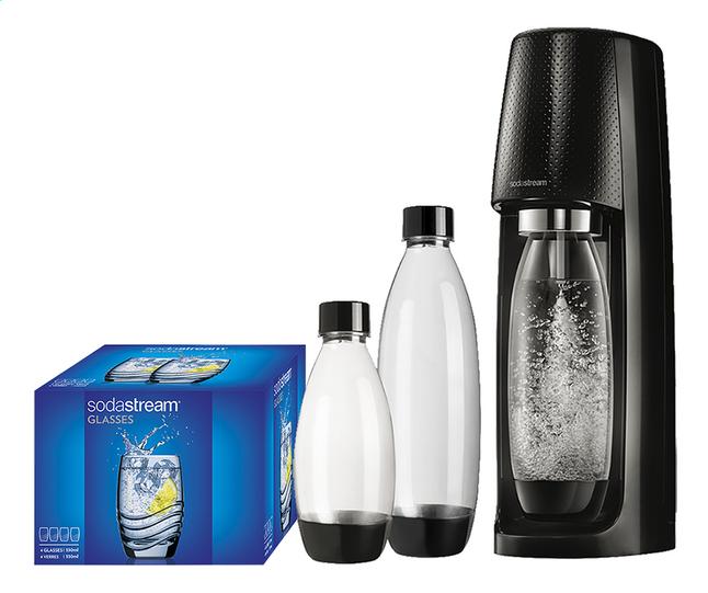 Image pour SodaStream Machine à soda Spirit Black Mega Pack noir + 4 verres à partir de ColliShop