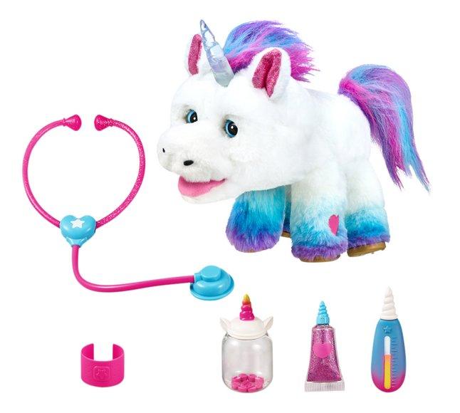 Peluche interactive Little Live Pets Rainglow Unicorn Vet Set