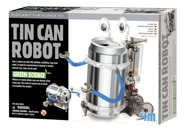 Afbeelding van 4M Green Science Blikken robot from ColliShop