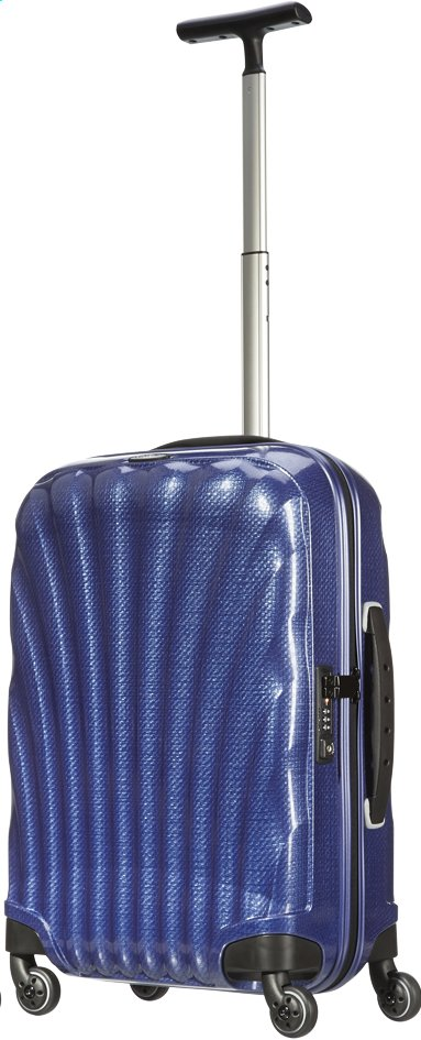 Afbeelding van Samsonite Harde reistrolley Lite-Locked Spinner navy 55 cm from ColliShop