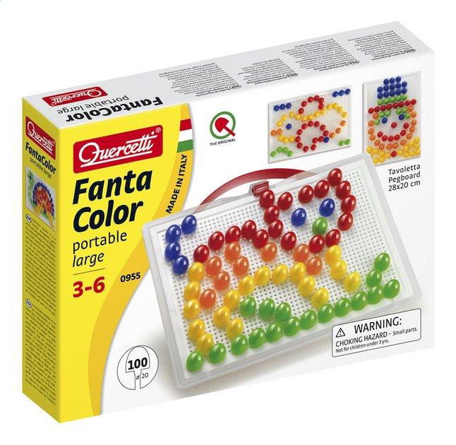 Quercetti mosaïques Fanta Color portable large 100 pièces