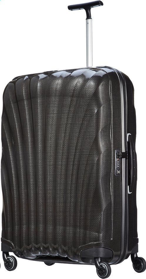 Afbeelding van Samsonite Harde reistrolley Cosmolite Spinner black 75 cm from ColliShop